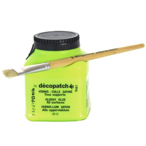 Flacon Vernis colle PaperPatch, 180g, Finition Satiné - Décopatch - Photo n°1