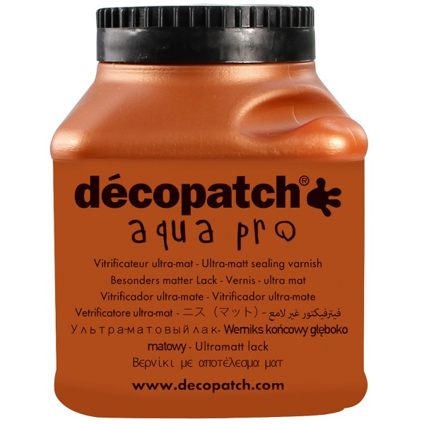 Pot Vernis Vitrificateur Aquapro 180ml, Finition Ultra Mat - Décoptach - Photo n°1