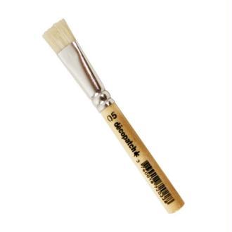 Petit Pinceau pure soie N°5, Larg. 1cm, Long. 9cm, pour enduire le papier Décopatch