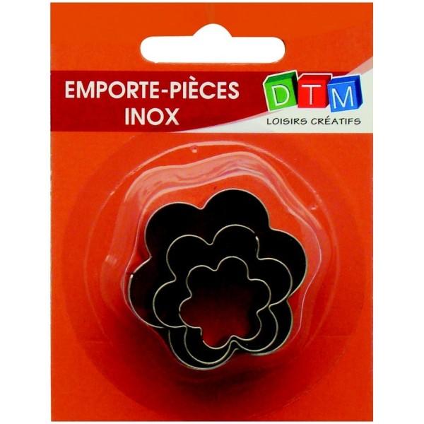 Lot de 3 minis emporte-pièces Fleurs en Inox alimentaire, Diamètre  2,3,4 cm - Photo n°1