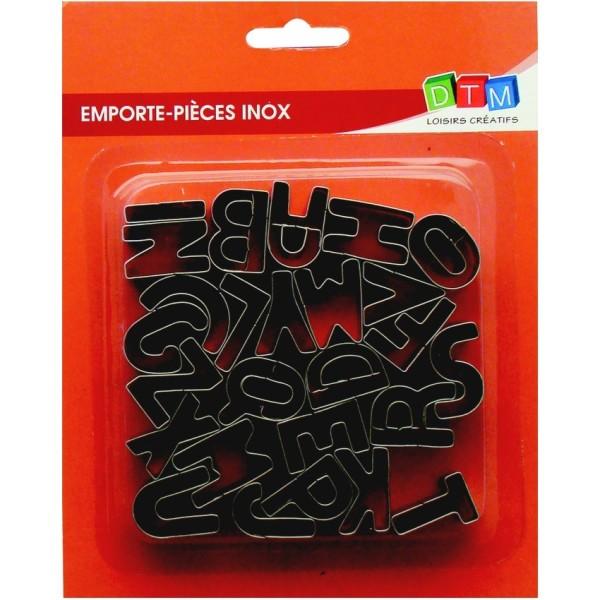Lot de 26 minis emporte-pièces inox alimentaire, Petites lettres alphabet, hauteur 25 mm - Photo n°1