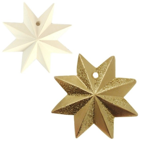 Moule thermoformé 4 motifs Noël, Etoile, Diamant, Ange et Sapin de noël moderne, hauteur des modèles - Photo n°3