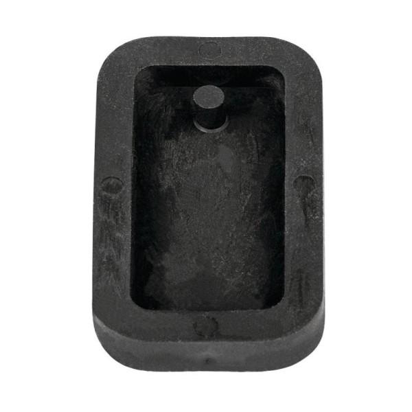Moule à bijoux rectangle pour béton, Pendentif en caoutchouc flexible, 3,9 cm, remplissage 7 mm - Photo n°1