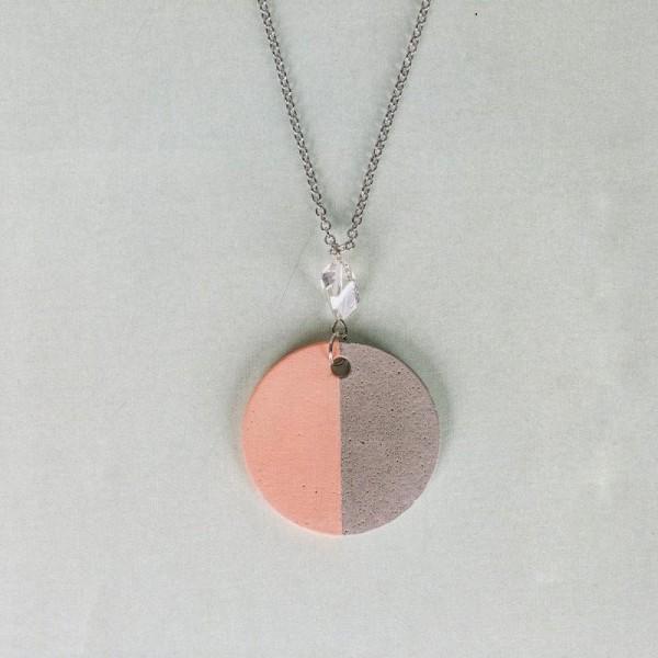Moule à bijoux rond pour béton, Pendentif en caoutchouc flexible, diam. 3,9 cm, remplissage 7 mm - Photo n°4
