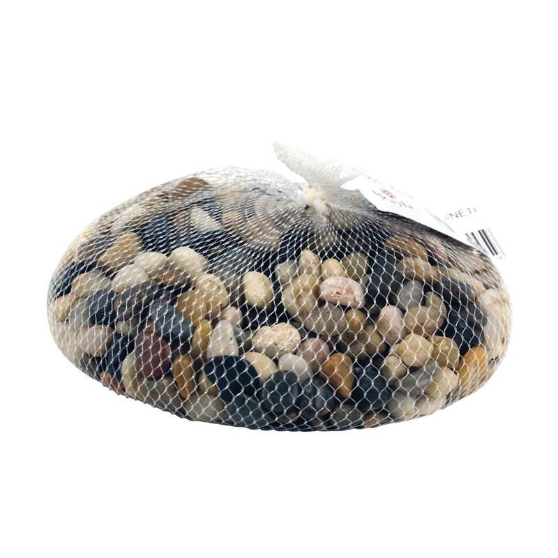 Filet de petits galets couleur bruns moyens assortis for Ou acheter des galets decoratifs