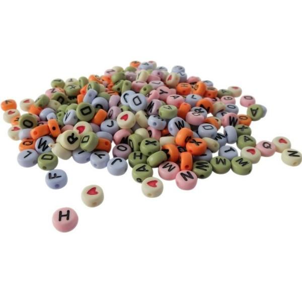 Sachet de 250 perles alphabet blanc