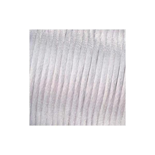 Cordelette de satin 100% polyester, 2 mm, bobine de 50 m - Photo n°1