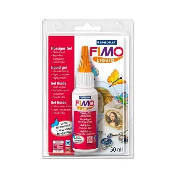 Fimo liquide transparente et extra flexible, Pâte polymère fluide gel durcissant au four, 50ml - Photo n°1