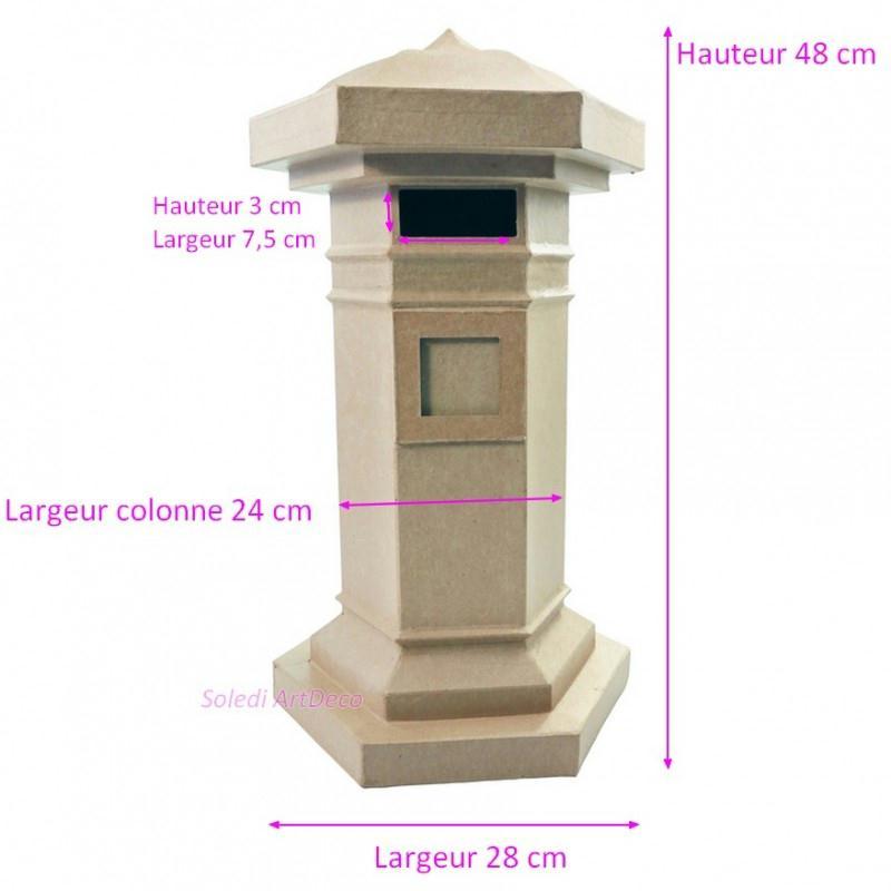 boite aux lettres anglaise en carton urne enveloppe. Black Bedroom Furniture Sets. Home Design Ideas