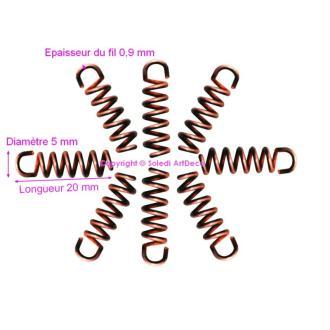 Petite Spirale d'accroche en acier, Suspension Épaisseur 0,9mm, longueur 2cm, largeur 5m