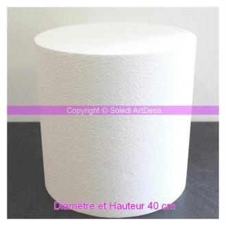 Grand Cylindre en polystyrène 40x40 cm, Base Polystyrène densité Pro, 28 kg/ m3