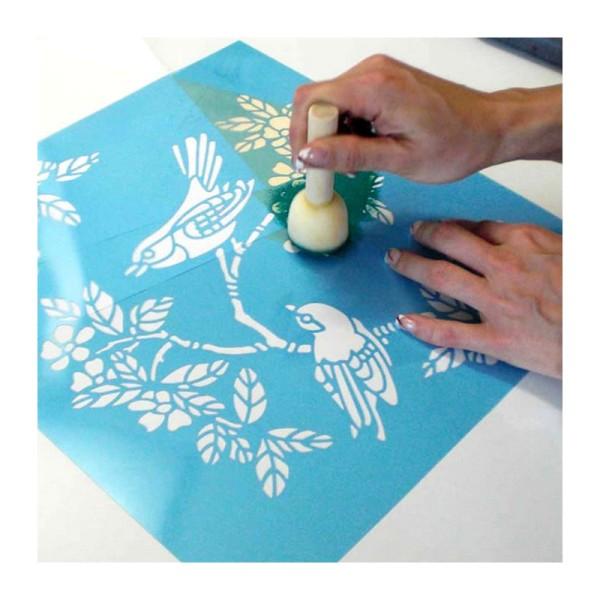 Lot de 10 Pinceaux embout mousse, diam. 4 cm, pour la décoration au pochoir - Photo n°4