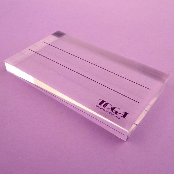 Bloc acrylique pour tampons transparents 10,5 x 6 cm - Photo n°2