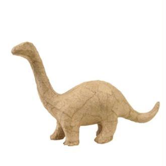 Dinosaure Brontosaure en papier maché 17 cm