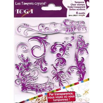 Tampons crystal Arabesques 2 x 6