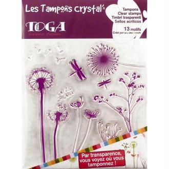 Tampons crystal Graminées x 13