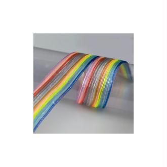 Sachet de 12 fils scoubidous multicolores transparents pailletés, diam. 2mm x 1,20 m