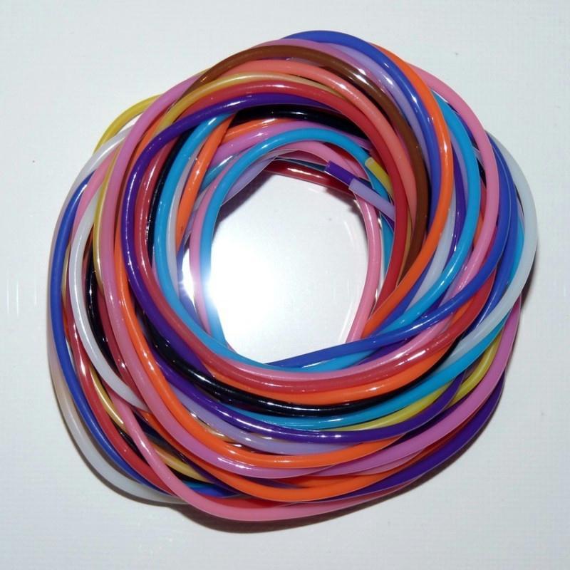 sachet de 12 fils de scoubidous multicolores 2 mm x 1m. Black Bedroom Furniture Sets. Home Design Ideas