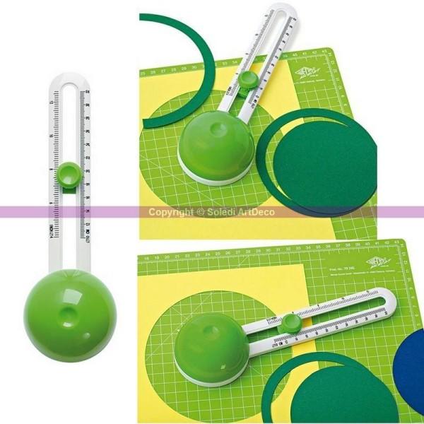Cutter réglable circulaire Comfortline, Découpe de Cercle de 10 à 32 cm de diam - Photo n°1