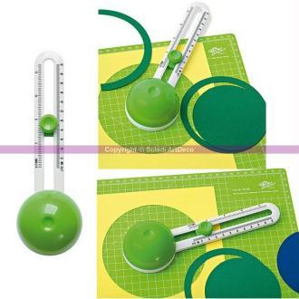 Cutter réglable circulaire Comfortline, Découpe de Cercle de 10 à 32 cm de diam