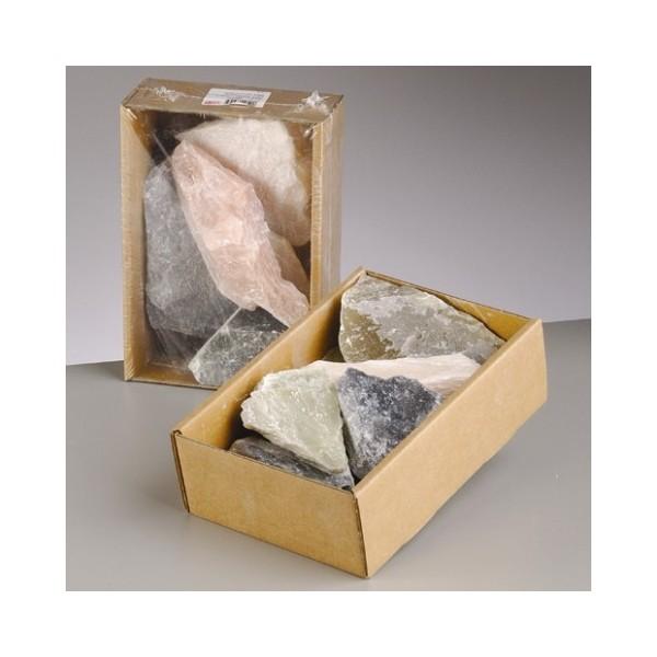 Stéatite, Pierre tendre de couleurs assortis, 1,5 kg, pierre à savon - Photo n°1