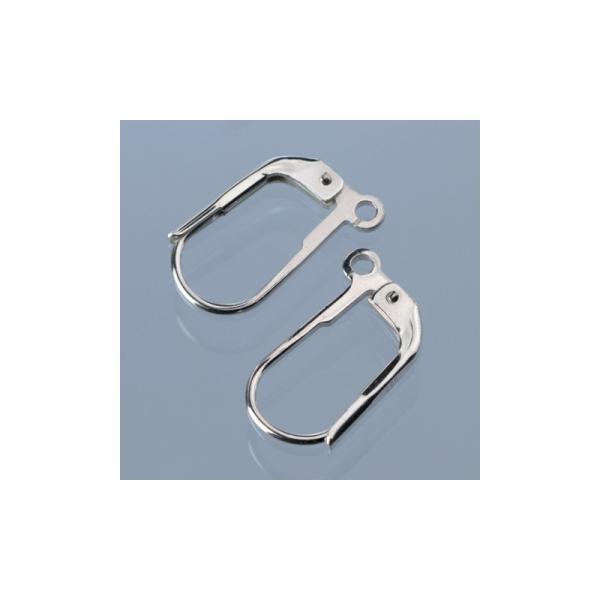 Boucle d'oreille coquillage en argent 925, haut. 13 mm, 1 paire - Photo n°1
