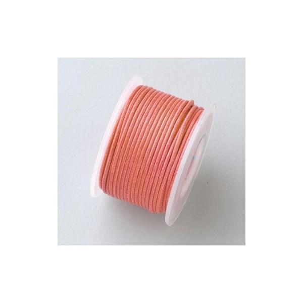 Cordelette en coton ciré, diam. 1 mm, 9 mètres sur bobine - Photo n°1