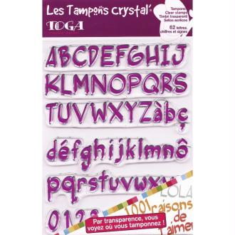 Tampons crystal Grand Alphabet x 62