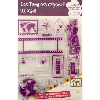 Tampons crystal Destination Vacances x 15