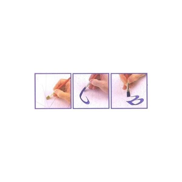 Base technique One Stroke Calligraphie, Kit de 3 feuilles réutilisables - Photo n°2