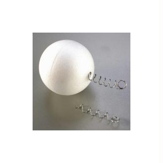 Spirale d'accroche, suspension Épaisseur 1mm, longueur 5cm, pour polystyrène, 12