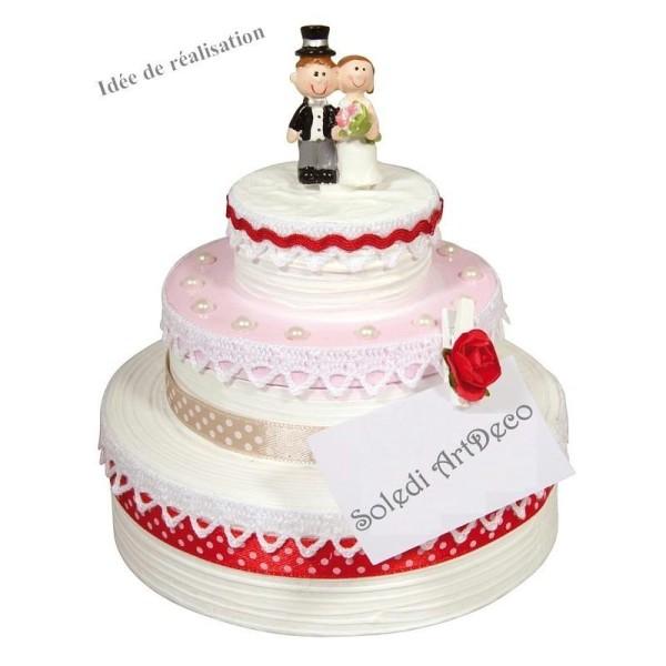 Boite Gâteau De Mariage Urne En Carton Avec Couvercle Diamètre De Base 23 Cm Hauteur