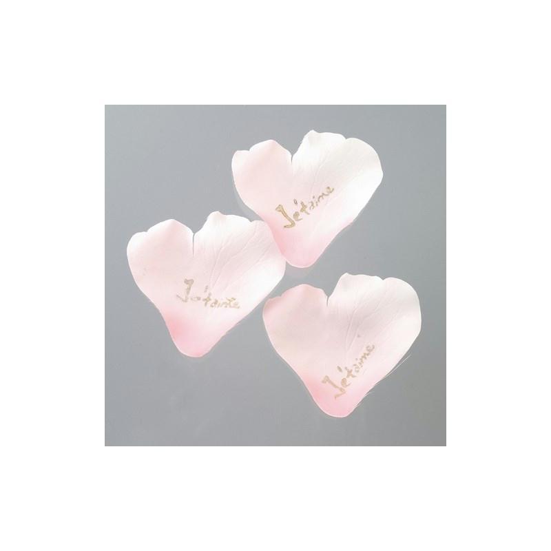 24 p tales de rose rose de 6 cm avec message d 39 amour je t for Amour de cuisine de soulef