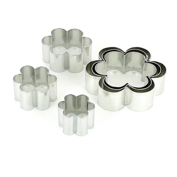 Lot de 7 Emporte-pièces en inox, Fleurs, 2,5 à 9 cm, découpe fleuri - Photo n°2