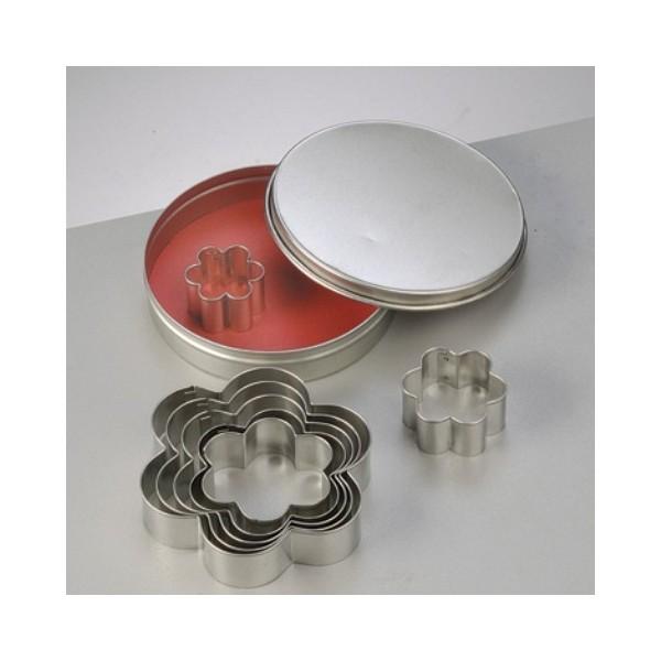 Lot de 7 Emporte-pièces en inox, Fleurs, 2,5 à 9 cm, découpe fleuri - Photo n°4