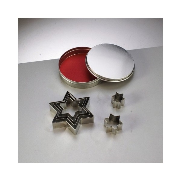 Emporte-pièces en inox, 7 étoiles, de 2,5 cm à 8 cm - Photo n°1