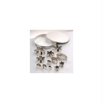 Emporte-pièces en inox, Fleurs et feuilles, de 1,8 à 4,7 cm, 13 formes