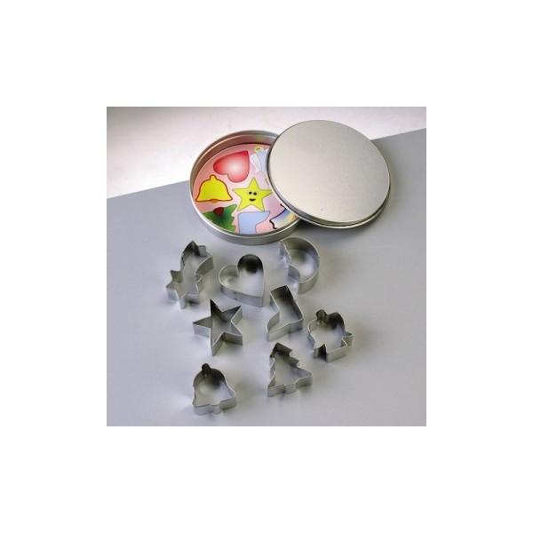 Emporte-pièces en inox, 9 motifs de noël, de 4 à 5 cm - Photo n°1