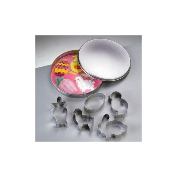 Emporte-pièces en inox, 6 motifs de Pâques, de 6 à 8 cm - Photo n°1