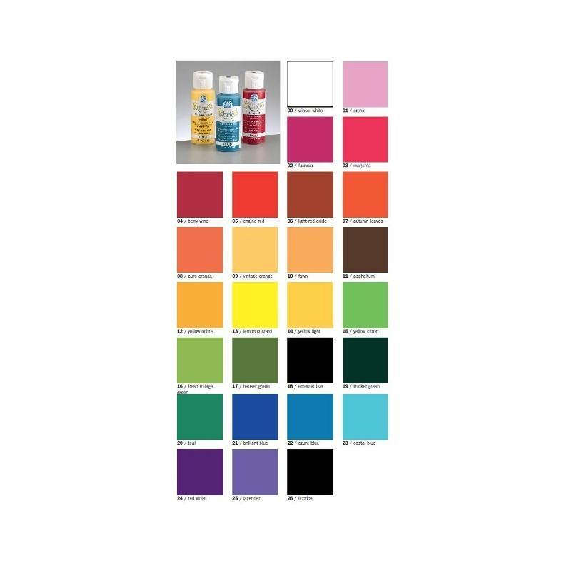 Peinture acrylique cr meuse pour textiles fabric paint 59 - Peinture brillante pour cuisine ...