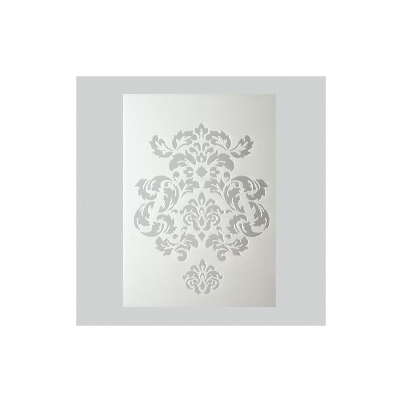 Pochoir ornements plastique blanc format a5 pochoir for Miroir en plastique