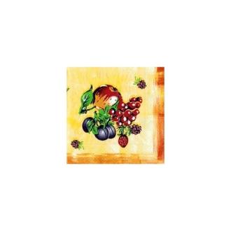 Lot de 2 Serviettes en papier motif Fruits du verger
