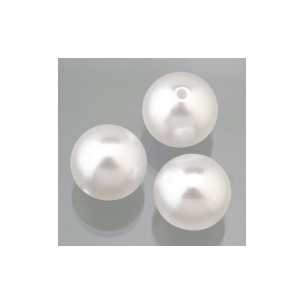 5 perles nacre blanc mariage cire perles 25mm grandes perles
