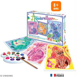 Tableau aquarelle Aquarellum Chats