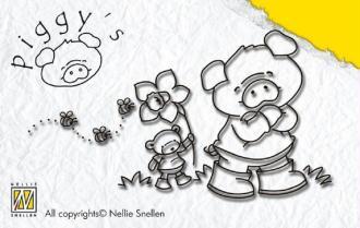 Tampon clear - Petit cochon - Nellie Snellen