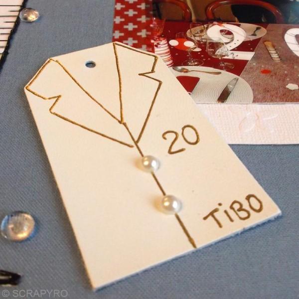 Etiquette en cuir Naturel 8 x 4,5 cm - Lot de 4 - Photo n°3