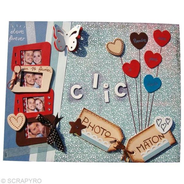 Coeur en cuir Naturel 6 cm et 3 cm - Lot de 8 - Photo n°4
