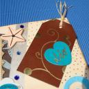 Etiquette en cuir Blanc et marron 8 x 4,5 cm - Lot de 4 - Photo n°5