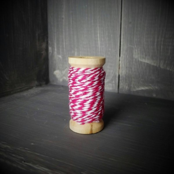 Ficelle bicolore - Backer's Twine - rose - 8M - Photo n°1