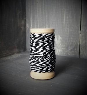 Ficelle bicolore - Backer's Twine - noir - 8M